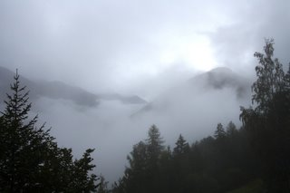 Walker's Haute Route 07 - A break in the mist near Champex